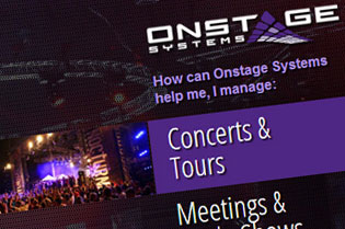 Onstage Systems Website